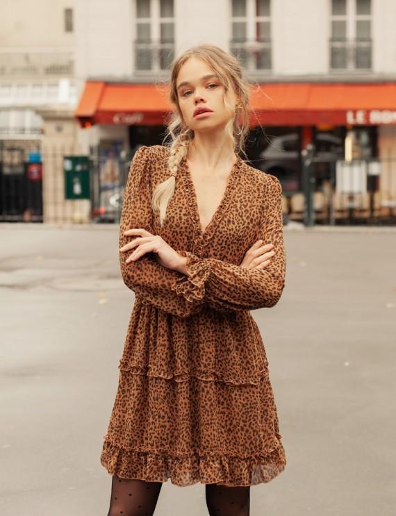 Robe léopard Noéline