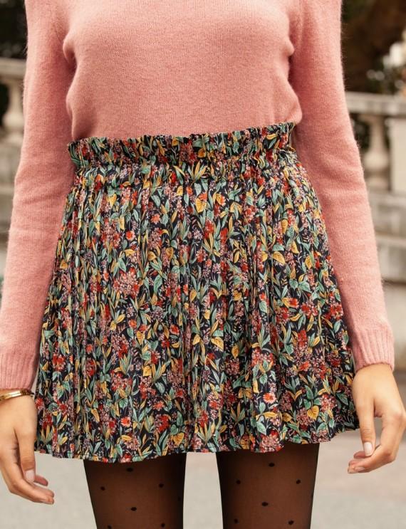 Floral pleated Carole skirt