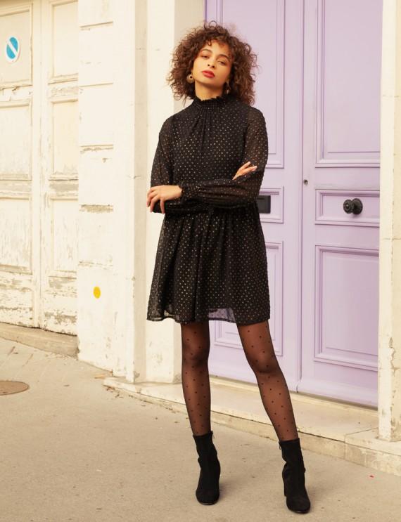 Robe courte noire Malorie