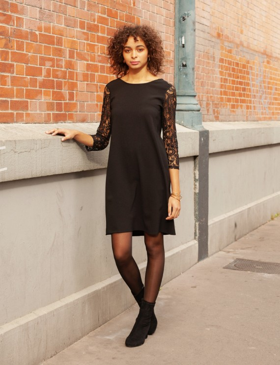 Robe noire dentelle Daniella