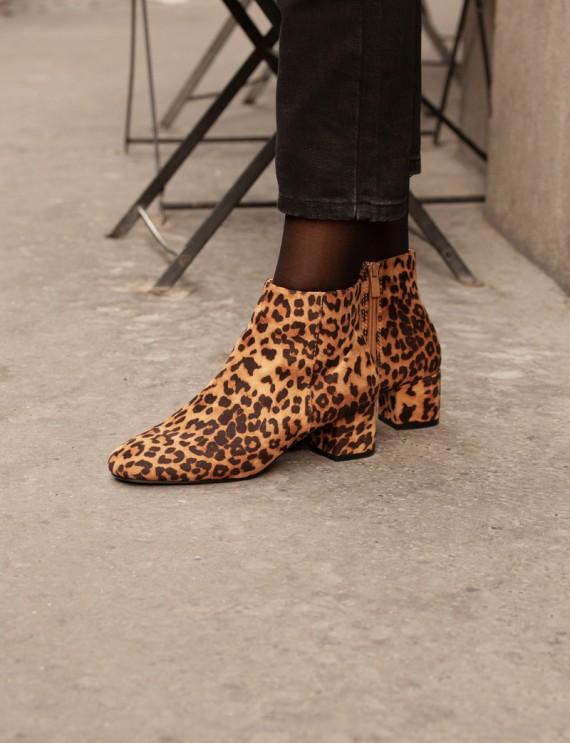 Bottines motifs léopard Zoé