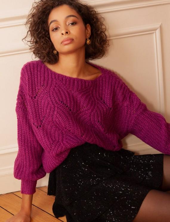 Davy purple sweater