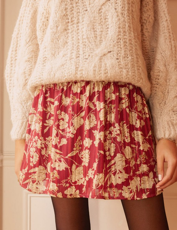 Short floral Vany skirt