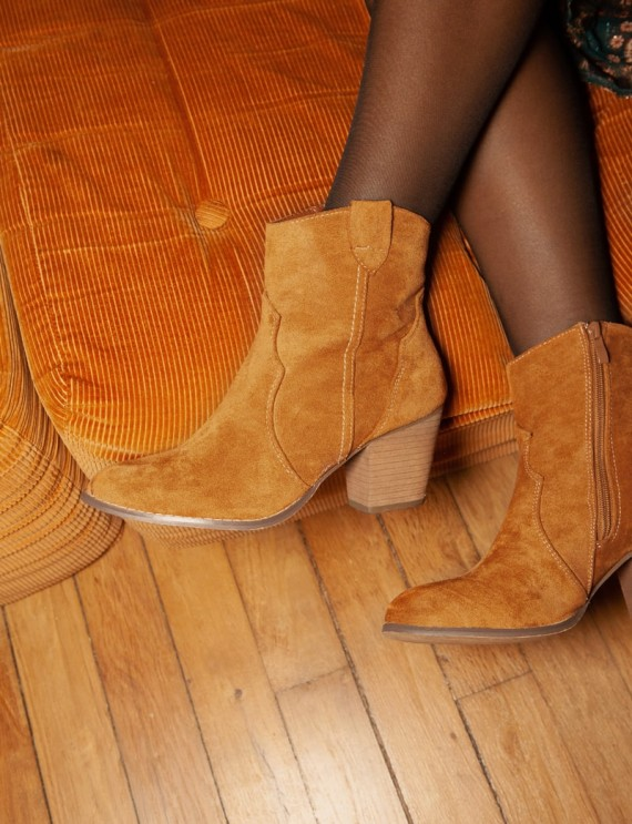 Camel Agathe boots