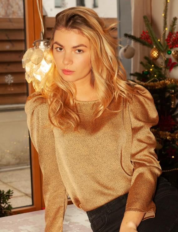 Beige Clarisse blouse