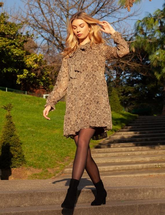 Robe courte marron Aude