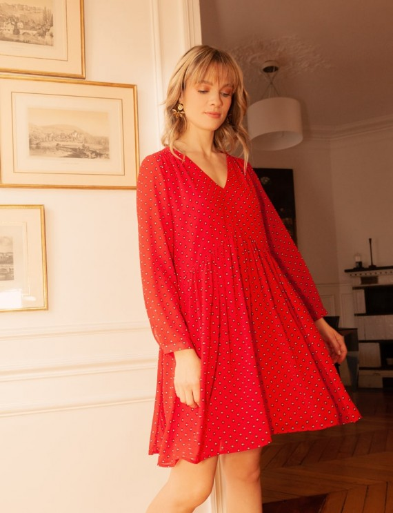 Robe courte rouge Vanessa
