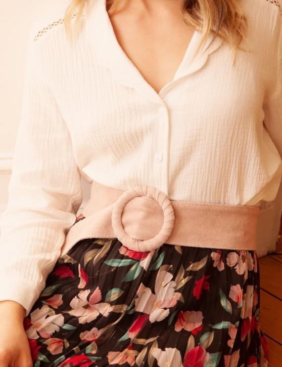 Light pink Béatrice belt