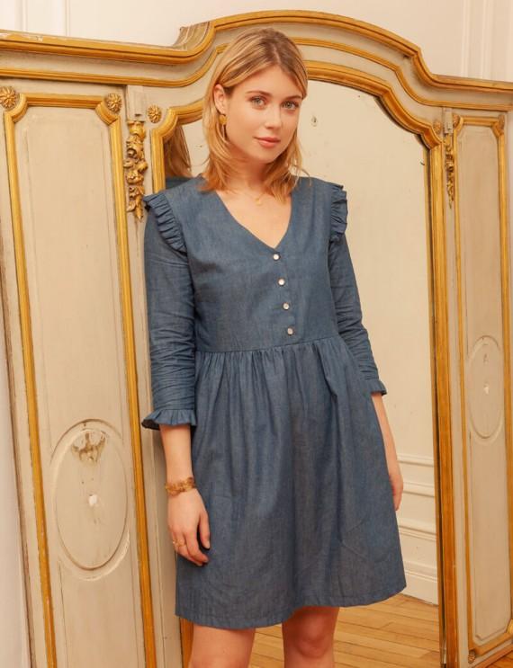 Robe en jean Nina