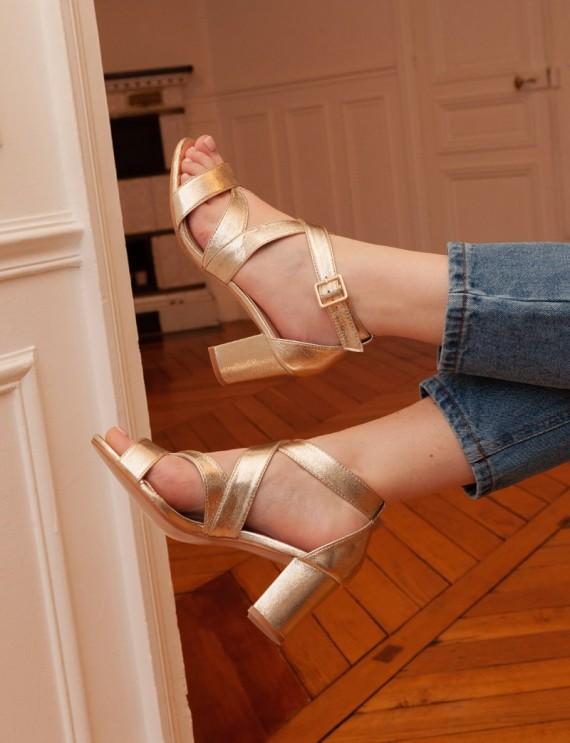 Sandales dorées Jessy