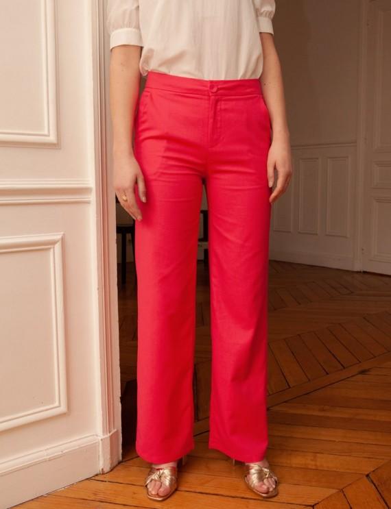 Pantalon fuchsia Mario