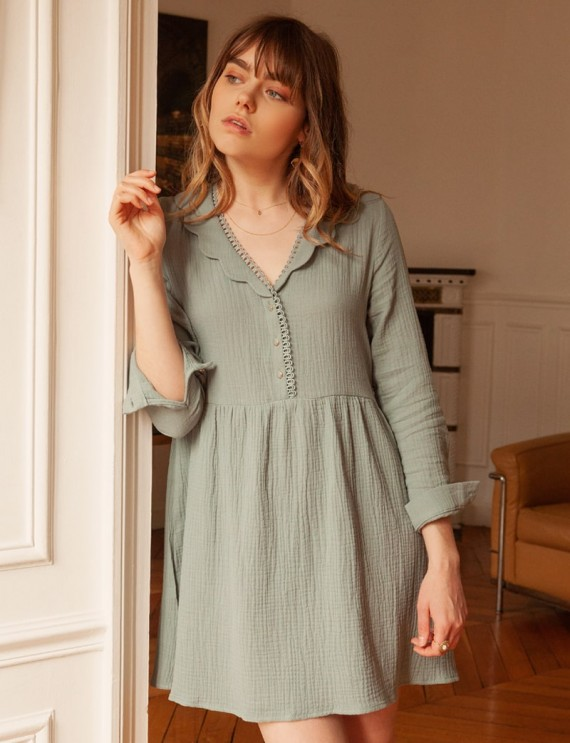 Robe vert d'eau Manon