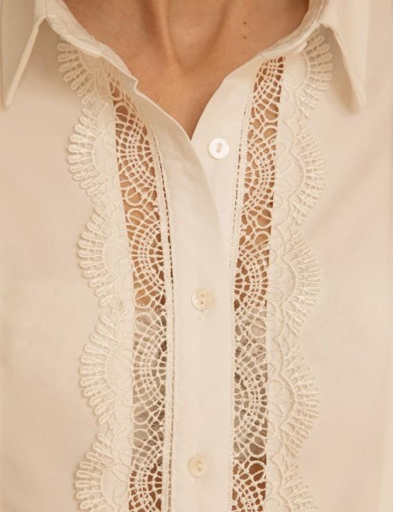 Devant chemise blanche Eléonora