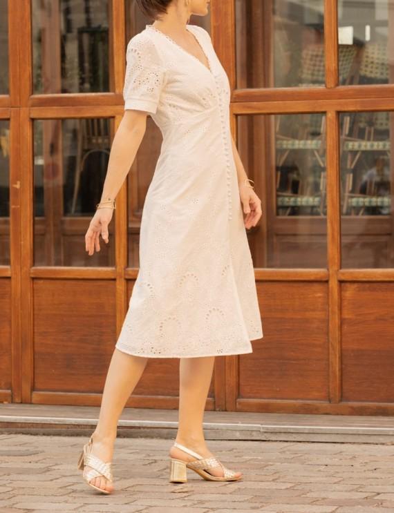 Robe blanche Nina