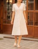 Robe mi-longue blanche Nina