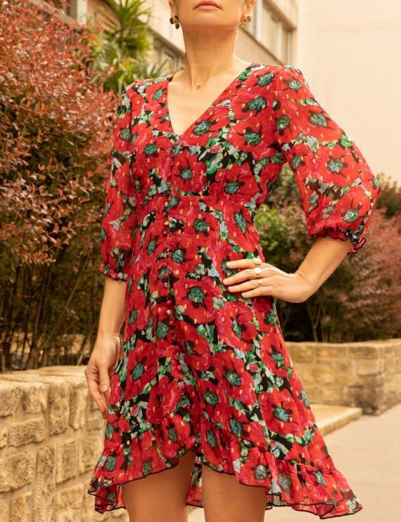 Robe rouge Anaelle