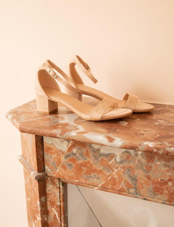 Sandales beige Axelle