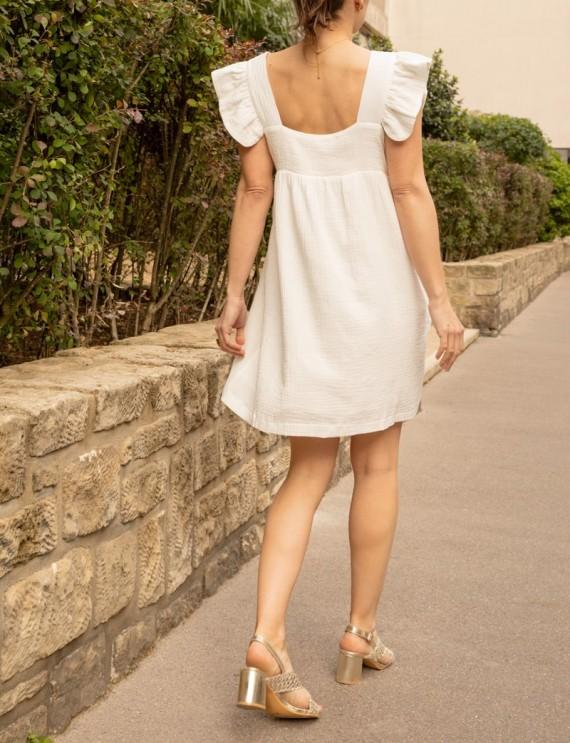 Dos robe blanche Marie
