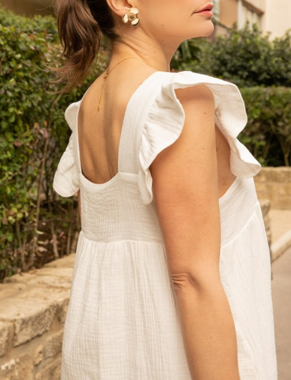 Col robe blanche Marie