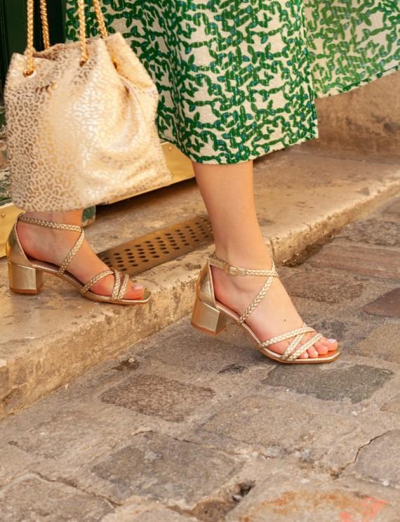 Sandales dorées Dina