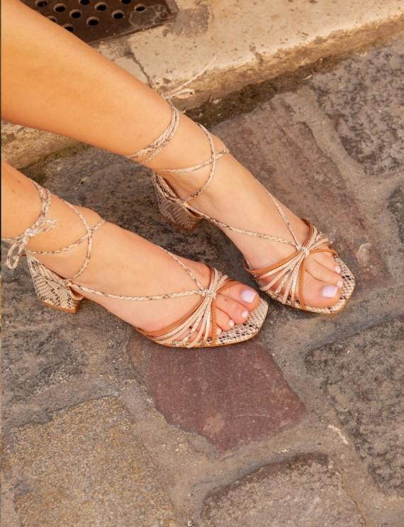 Sandales effet reptile Maria