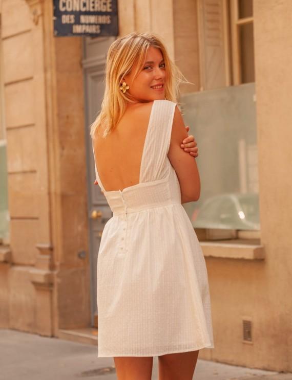 Robe blanche Lya