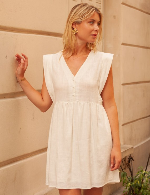 Robe blanche Lili