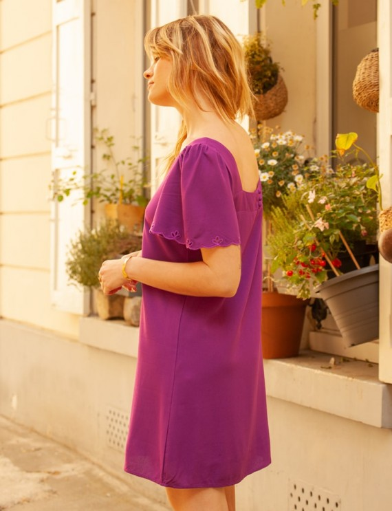 Robe violette Lucie