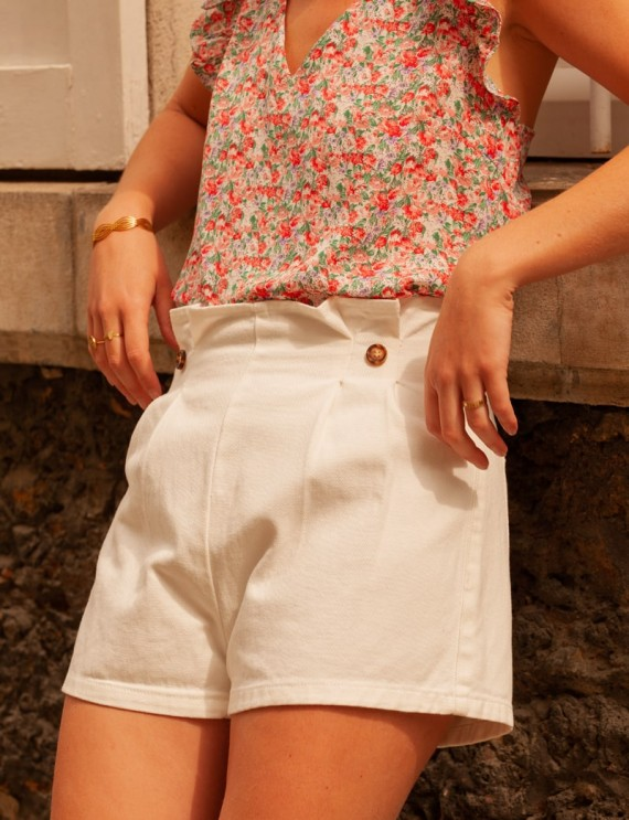 White Théo shorts