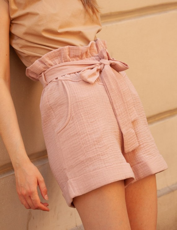 Short coton rose