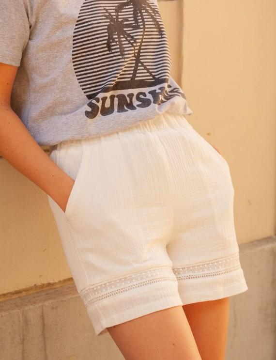 White Joshua shorts