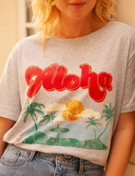 Heather grey Aloha t-shirt