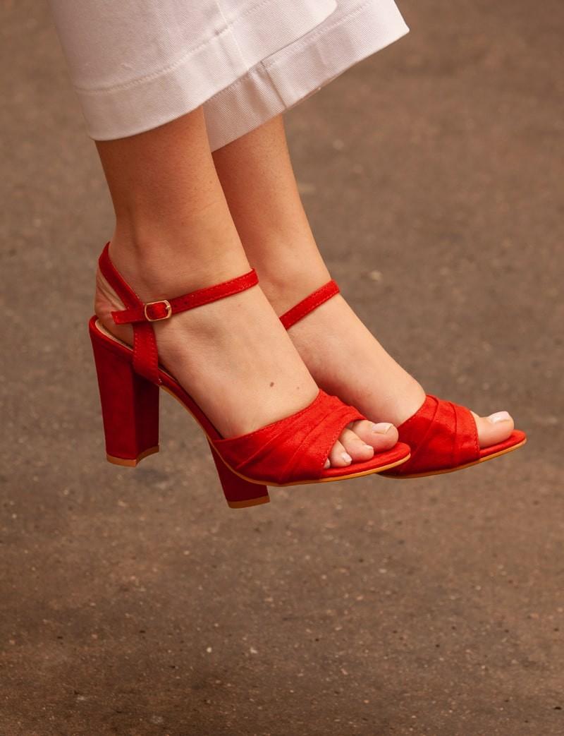 Sandales rouges Héléna