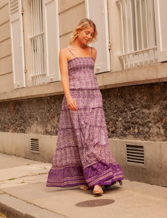 Robe longue violette Anissa