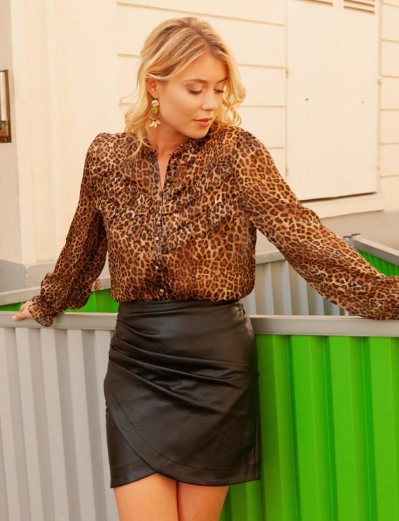 Blouse motifs léopard Andréa