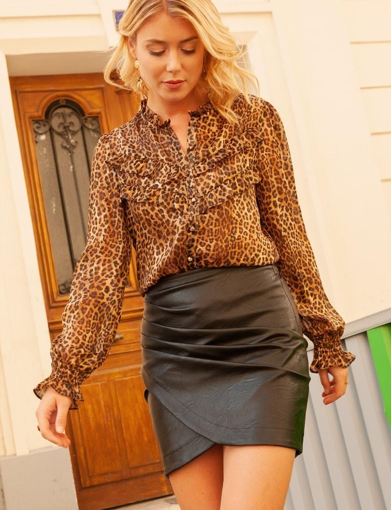 Blouse léopard Andréa