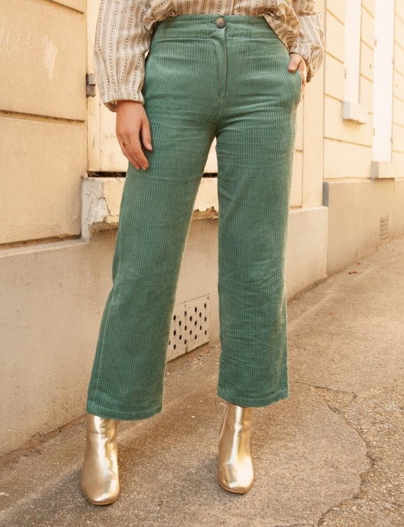Pantalon velours vert Louis