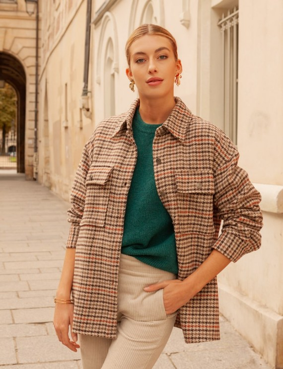 Patterned jacket Lohan