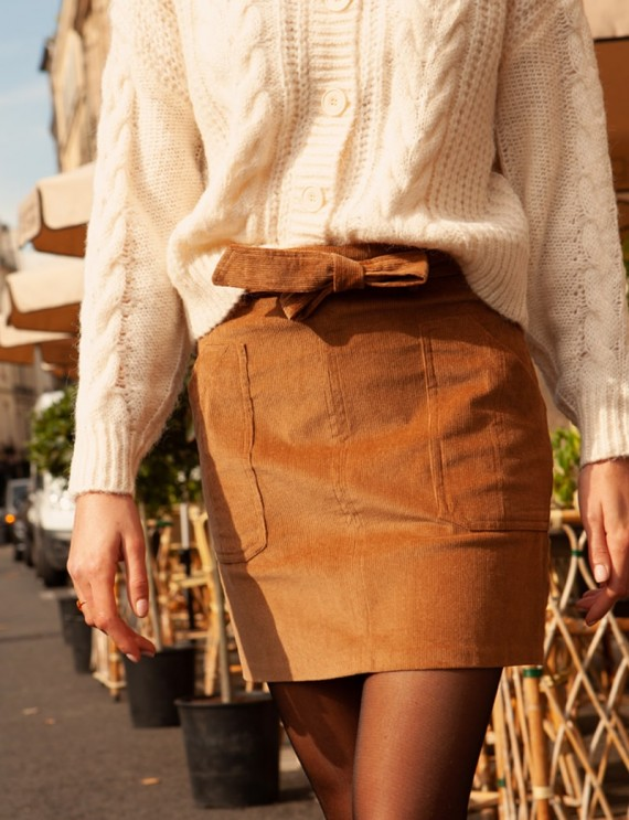 Camel Joy corduroy skirt