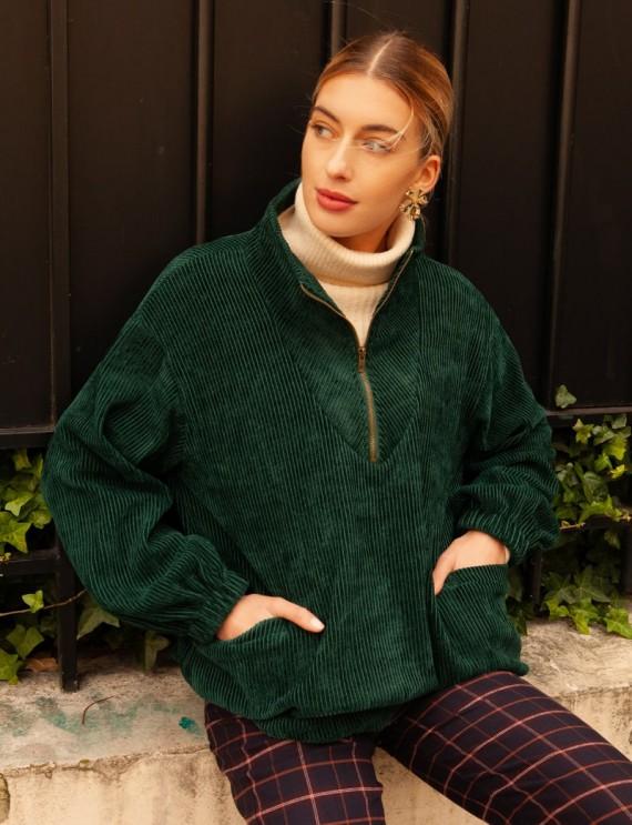 Green velvet Gohan sweater