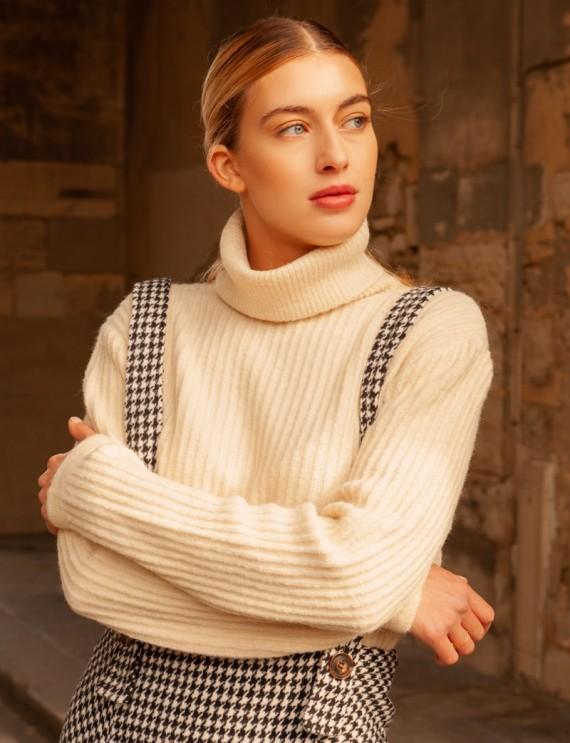 Beige Orlan turtleneck sweater