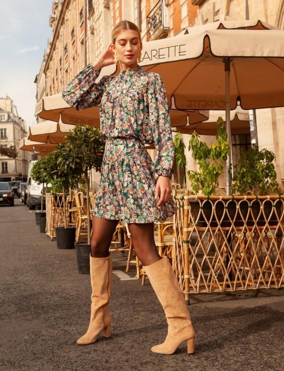 Look jupe fleurie Manon
