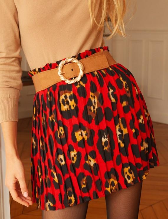 Jupe léopard rouge Tara