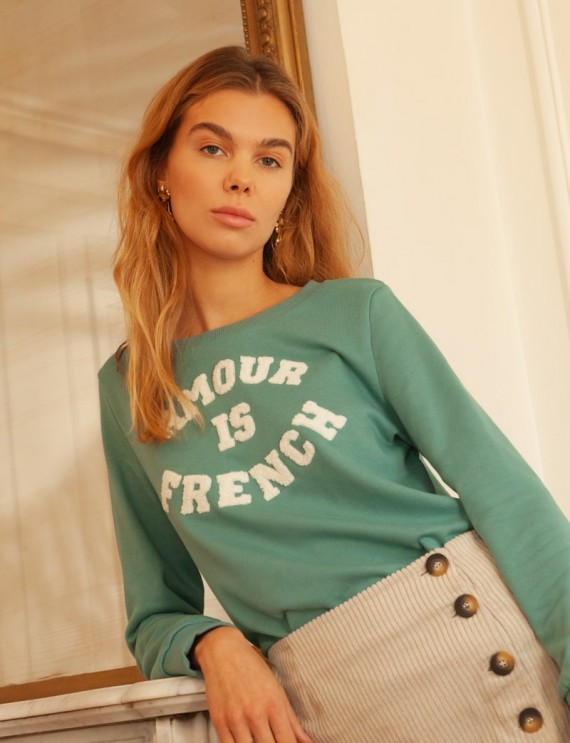 Water green Amour sweatshirt