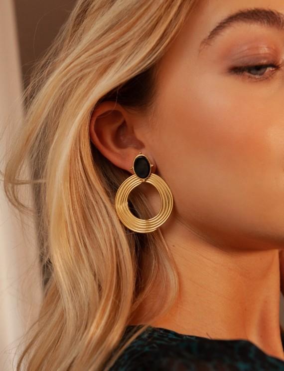 Golden and black Zola earrings