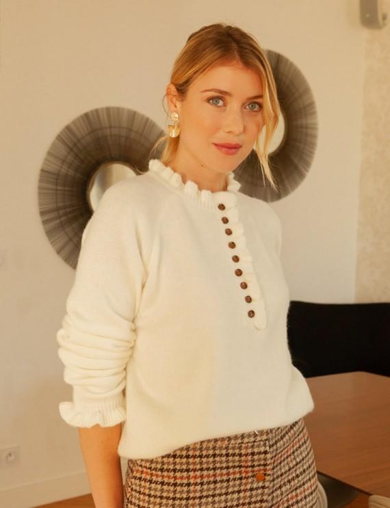 Pull blanc Mara