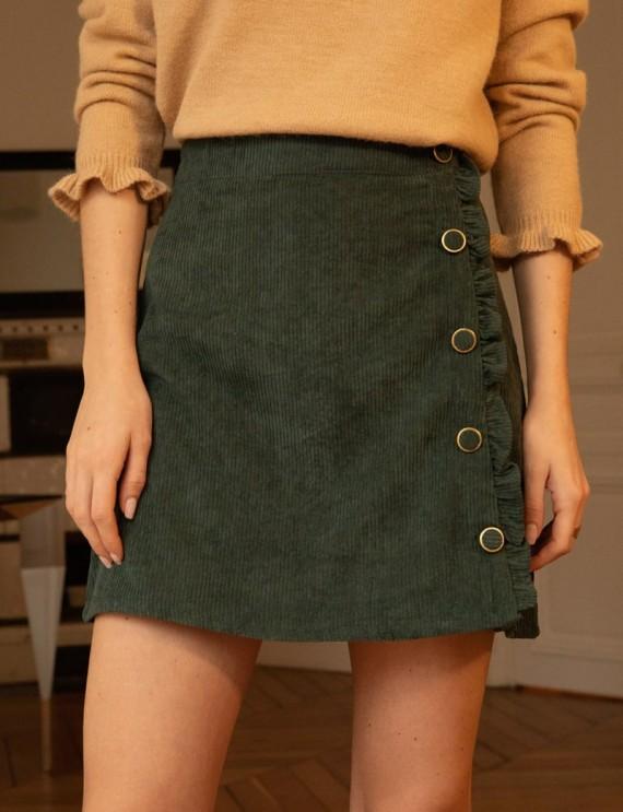 Green Angeline corduroy skirt
