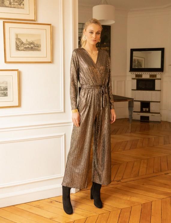 Black and gold Joya jumpsuit