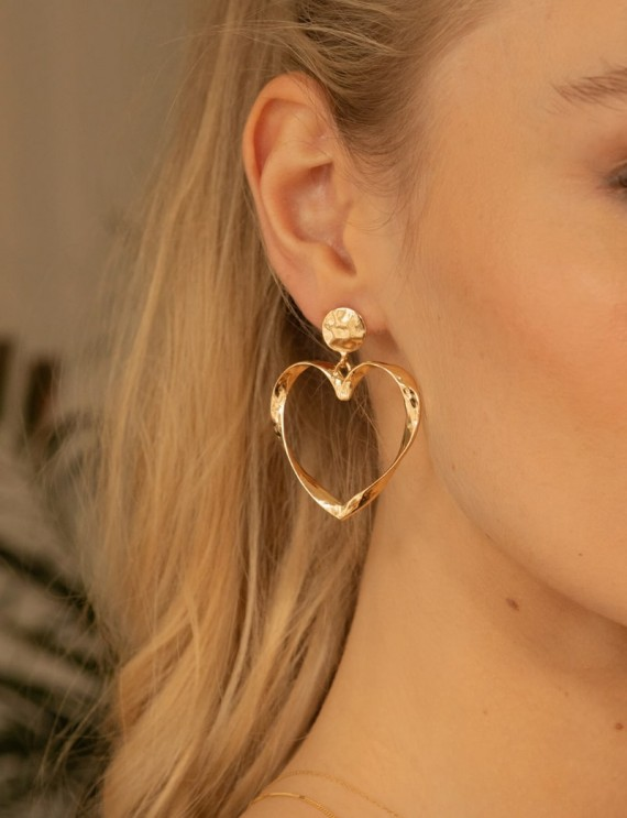 Golden Coeur earrings
