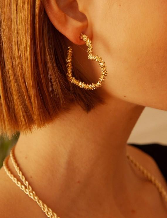 Golden Lova earrings